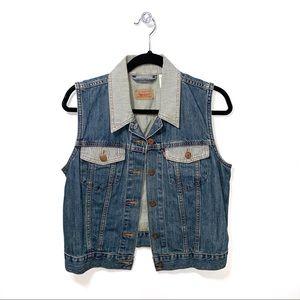 Levi's | Striped Collar Denim Vest